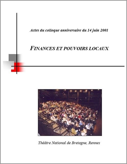 Actes du colloque RCF intitulés Finances et pouvoirs locaux, Yann Le Meur