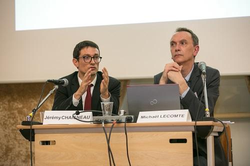 Jeremy Chaigneau et Michael Lecomte lors du seminaire RCF sur les departements, PLF