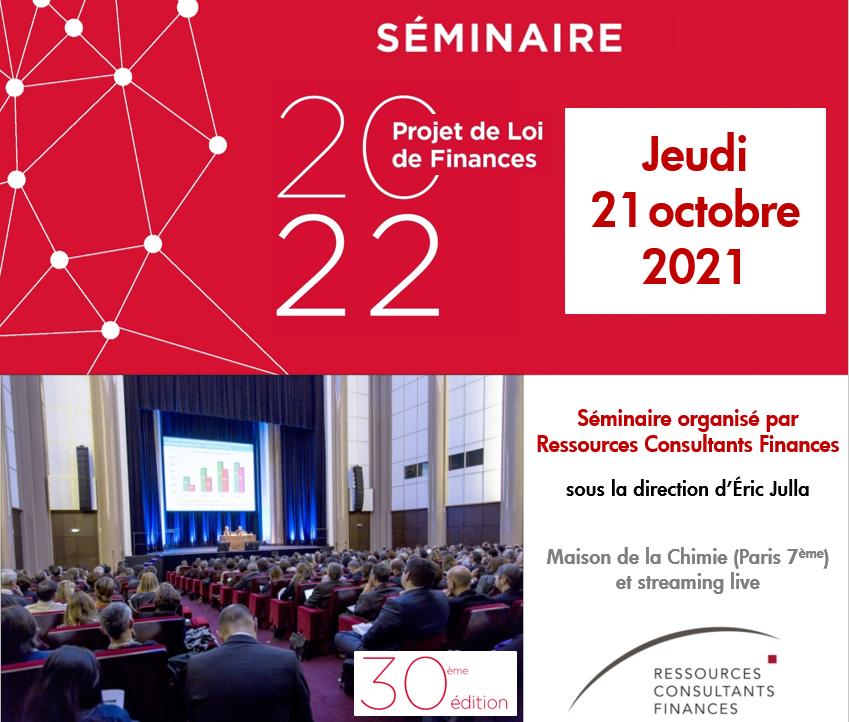 Ressources Consultants Finances Seminaire PLF 2022